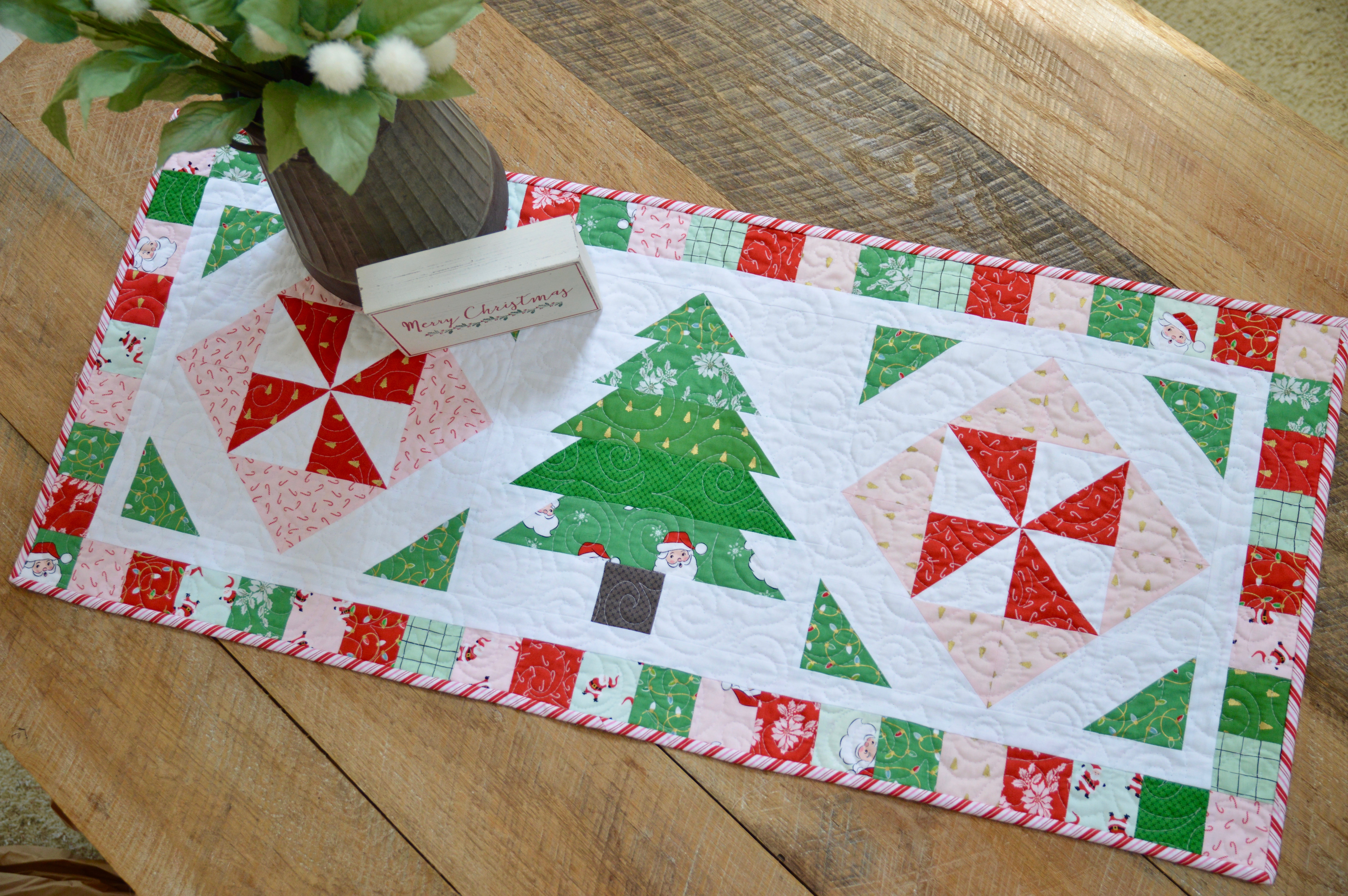 Peppermint Forest Table Runner And Quilt Pattern