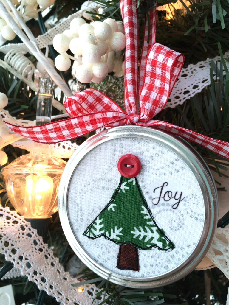 christmas gift ideas homemade crafts jar lid applique ornaments 6047