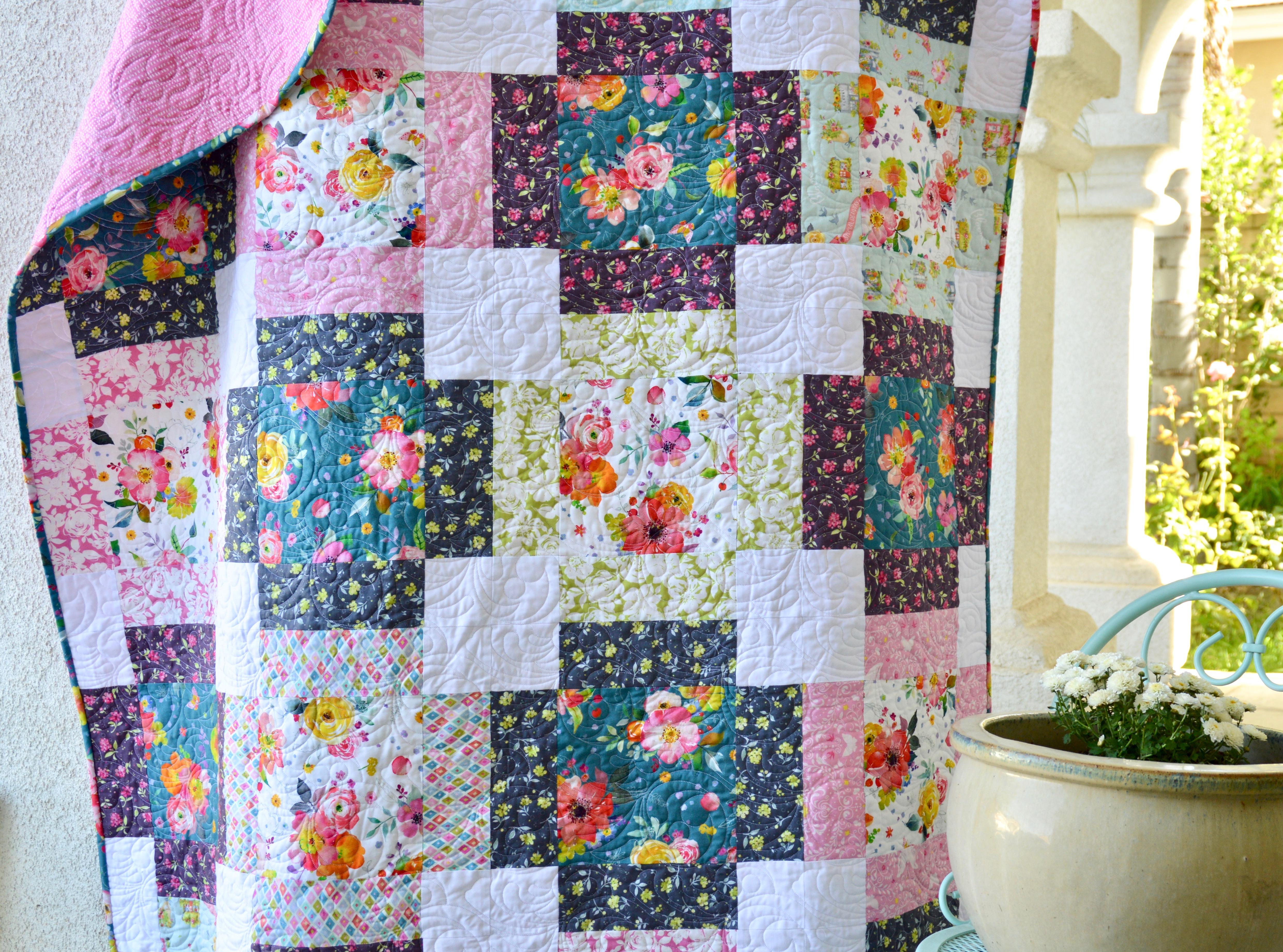 Flower Market Free Quilt Pattern